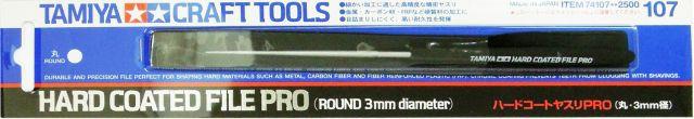 Tamiya 74107 Hard Coated File PRO Round 3mm Diameter
