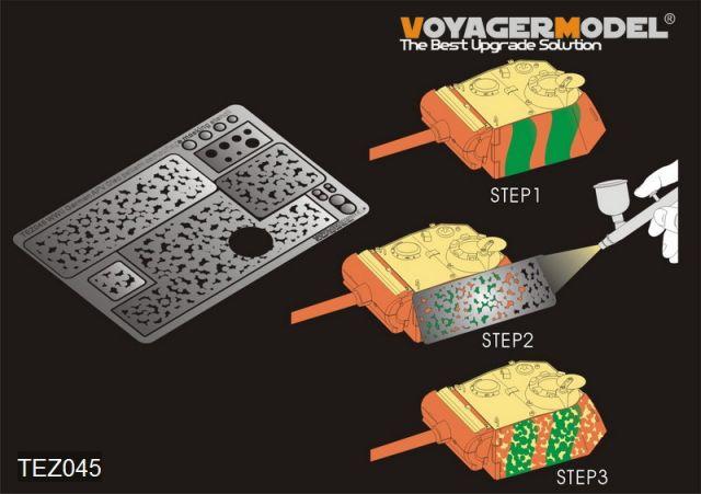 Voyager Model TEZ045 German AFV Disc pattern camouflage masking stencil