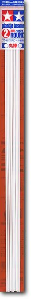 Tamiya 70132 2mm Plastic Round Bar (10pcs)