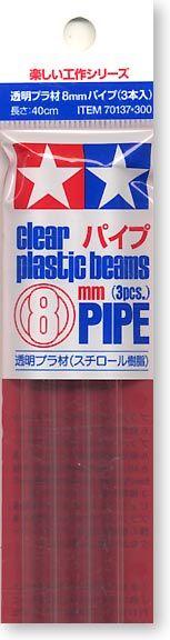 Tamiya 70137 8mm Plastic Pipe (3pcs)