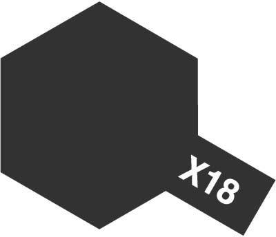 Tamiya 81518 MINI X-18 SEMI GLOSS BLACK