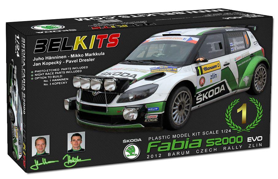 Belkits BEL004 Skoda Fabia S2000 EVO Hanninen - Markkula Kopecky - Dresler Winner Barum Czech Rally Zlin 2012