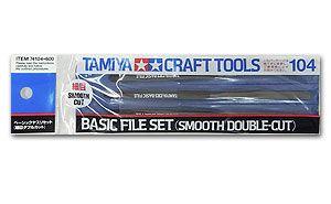 Tamiya 74104 Basic File set - Smooth Double cut