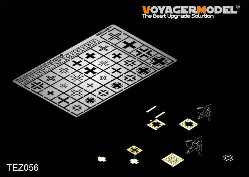 Voyager Model TEZ056 WWII German tank Stenciling template3