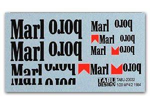 Tabu Design 20022 McLaren MP4/2 Tobacco Decal
