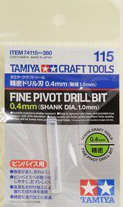 Tamiya 74115 Precision Drill Bit 0.4mm (Shaft diameter 1.0mm)