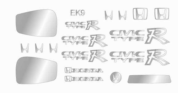 A+Club MS-055 HONDA CIVIC EK-9 Sticker