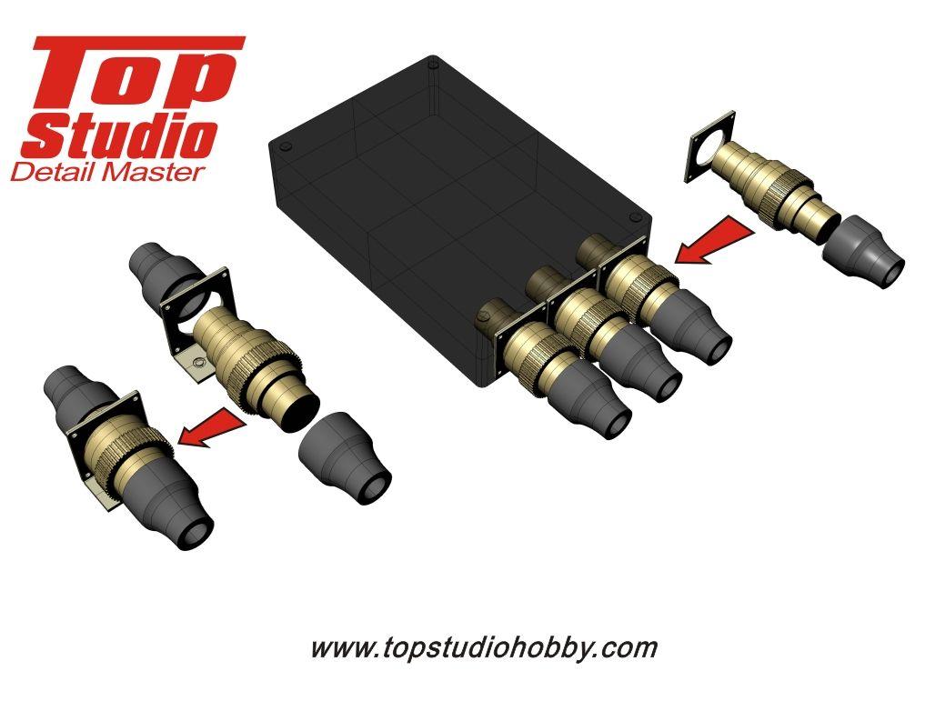 Top Studio TD23136 2.6mm Electronic Connectors (brass type)