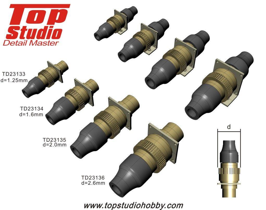 Top Studio TD23134 1.6mm Electronic Connectors (brass type)