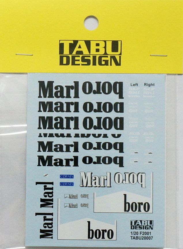 Tabu Design 20007 Ferrari F2001 sponsor Decal