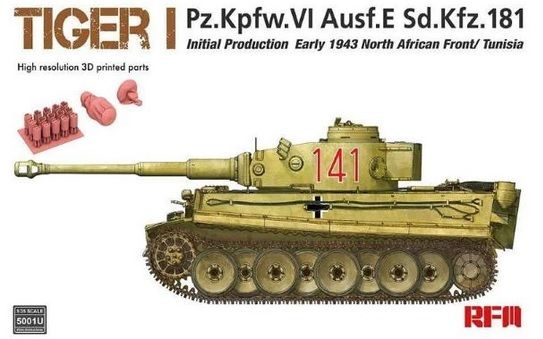 Rye Field Model 5001 Tiger I Initial Prod. Early 1943 North African Front / Tunisia