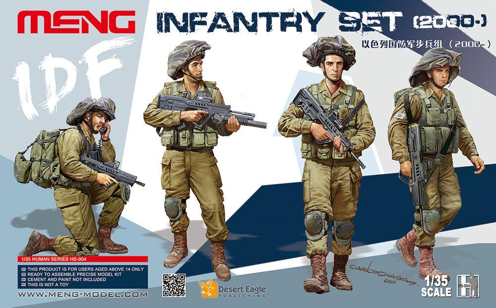 Meng HS-004 IDF Infantry set (2000-)