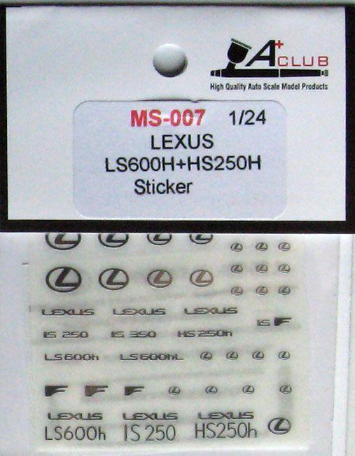 A+Club MS-007 Lexus Ls600H & HS250H Sticker