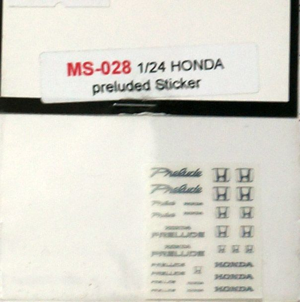 A+Club MS-028 Honda Preluded Sticker