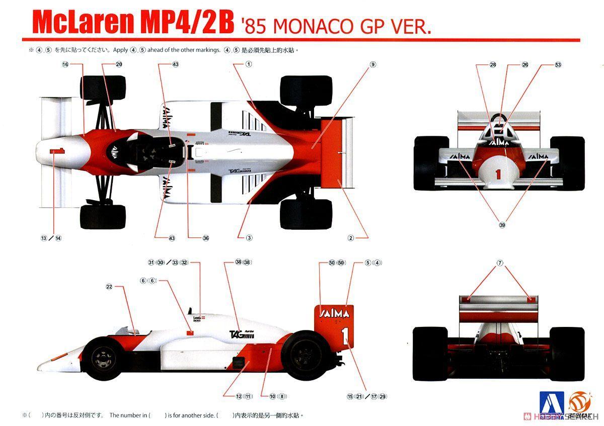 BeeMax B20002 (081914) McLaren MP4/2B '85 Monaco GP