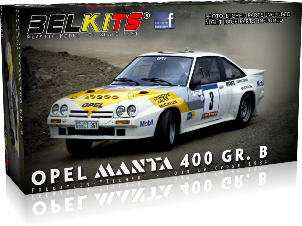 Belkits BEL008 Opel Manta 400 GR. B (Guy Fréquelin Tour de Corse 1984)