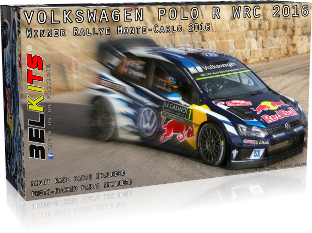Belkits BEL011 Volkswagen Polo R WRC 2016 (Sébastien Ogier / Jari-Matti Latvala / Andreas Mikkelsen Winner Rallye Automobile de Monte-Carlo 2016)