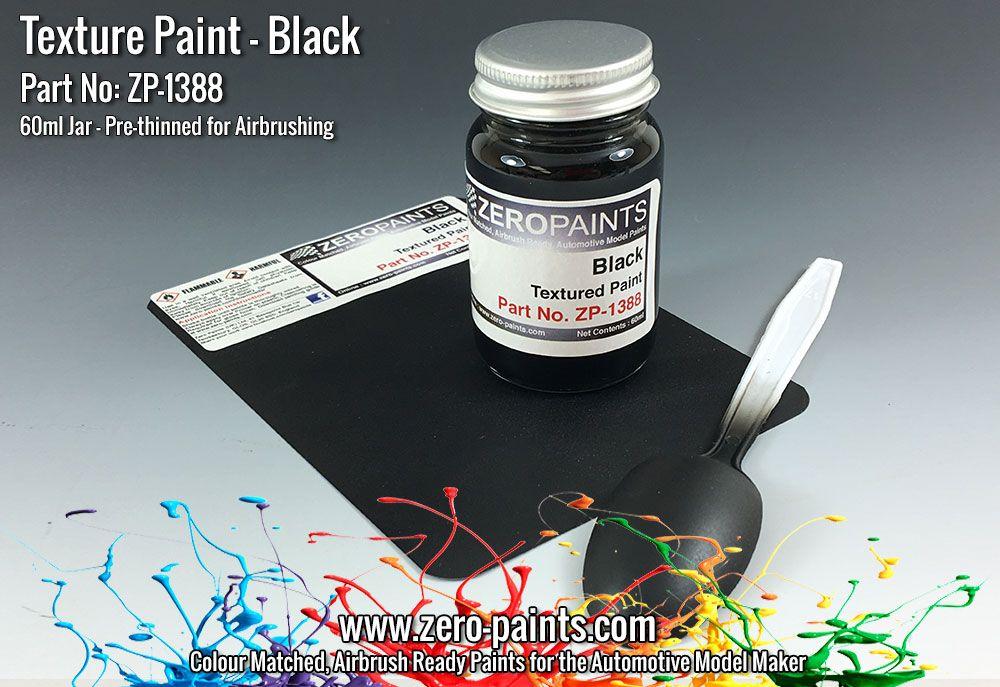 ZERO Paint ZP-1388 Black Textured Paint - 60ml (Engines, Interiors etc)