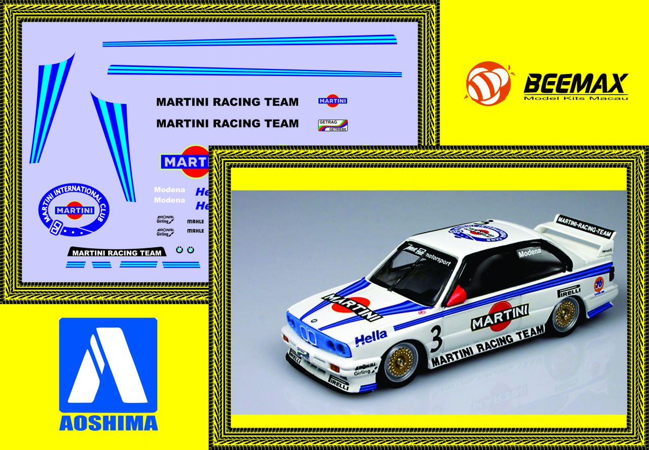 RMD Racing Mini Decals 111 Modena (Martini) BMW M3 (beemax)