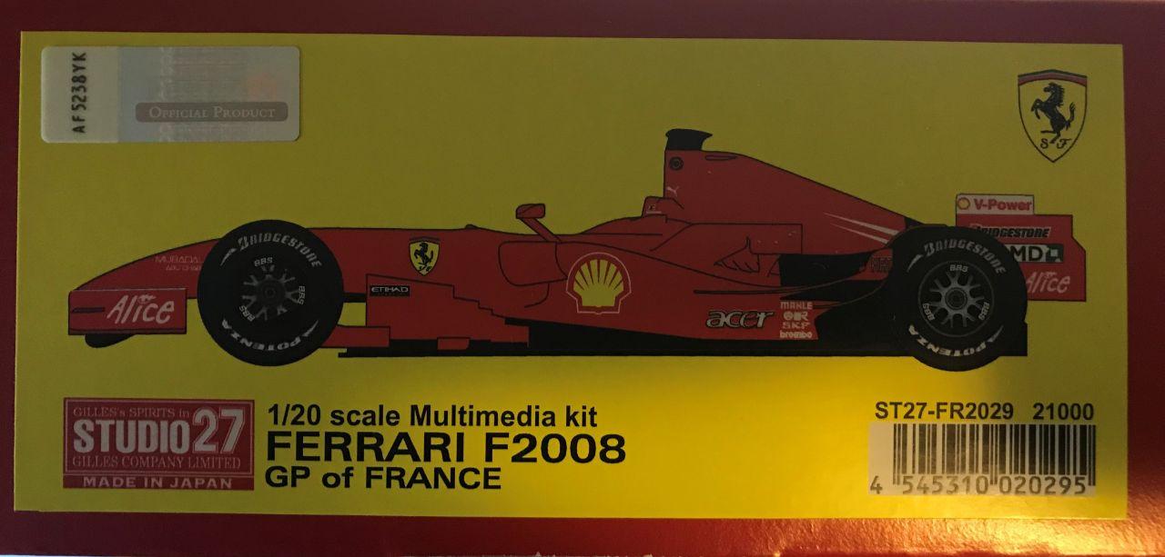Studio 27 FR2029 Ferrari F2008 GP F1 France