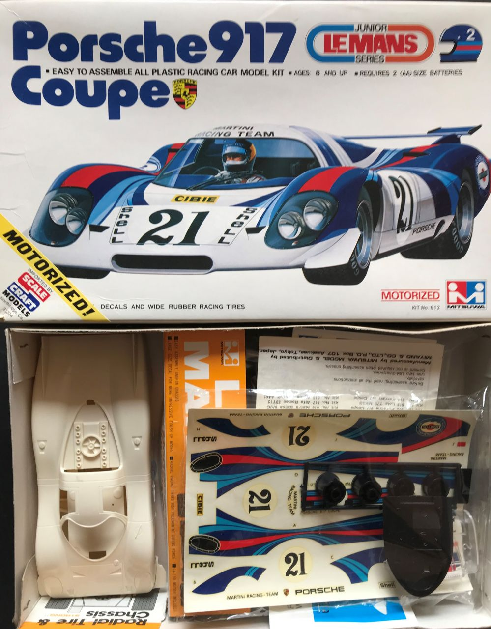 Mitsuwa 612 Porsche 917 Coupe Martini Racing