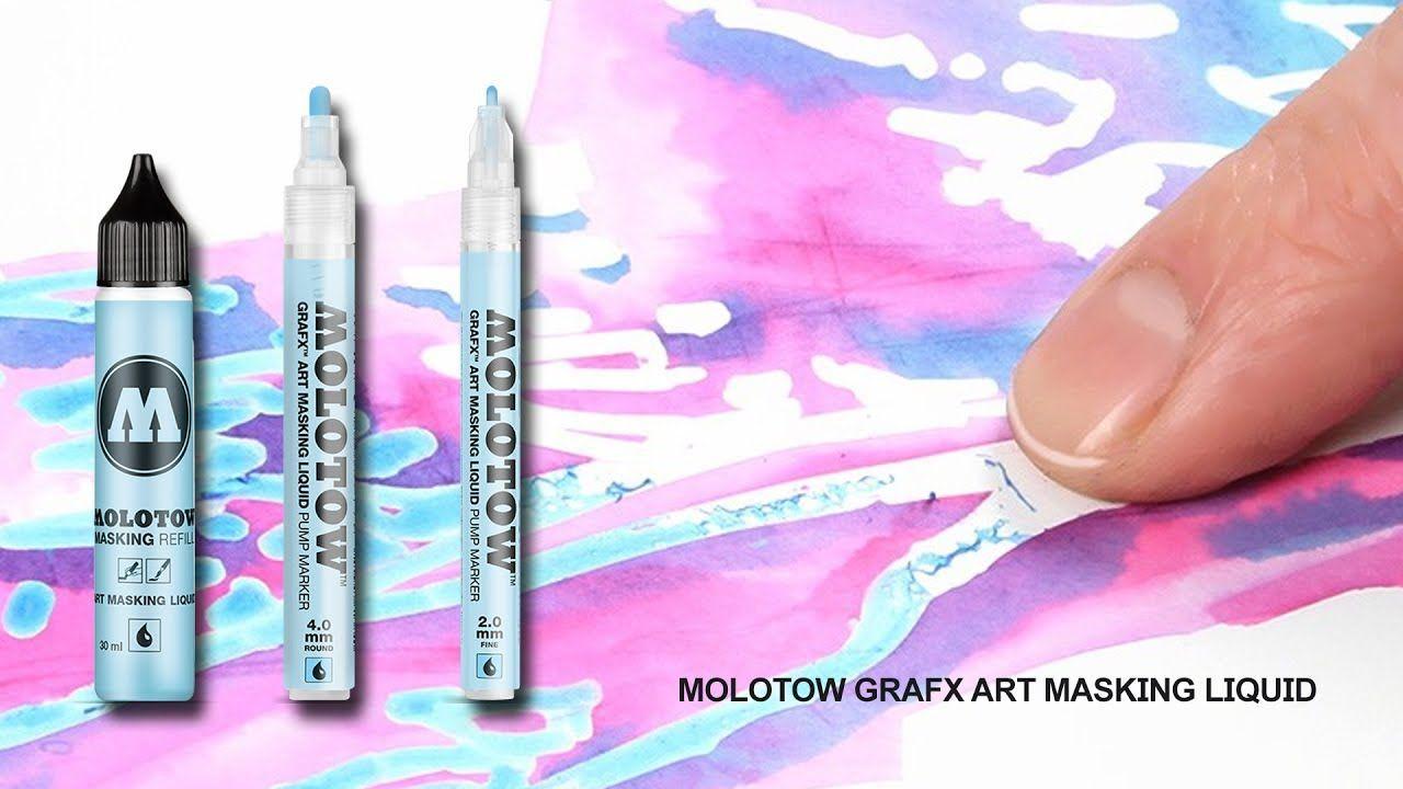 Molotow 728001 Grafx Art Masking Liquid Pump Marker 2mm