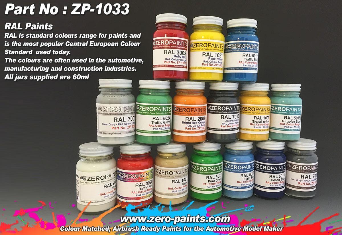 ZERO Paint ZP-1033 RAL Paints (European Standard Colour Range)