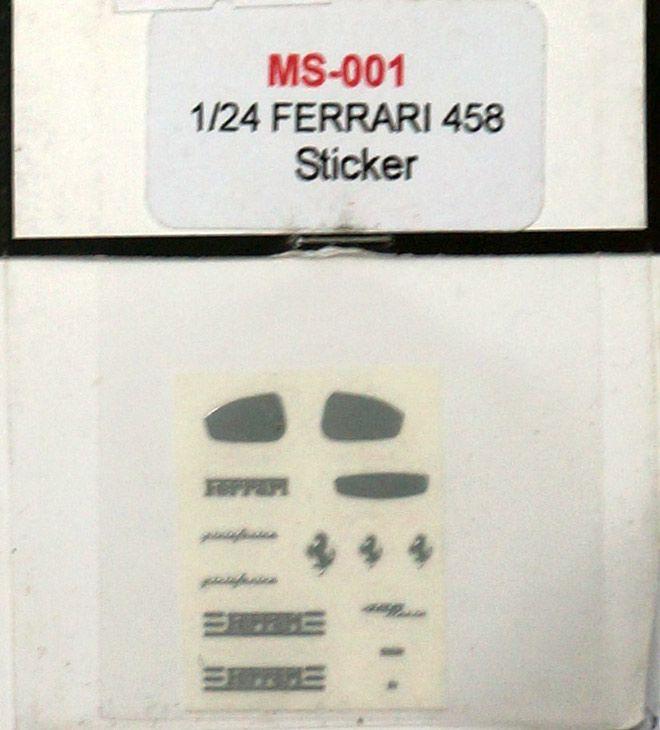 A+Club MS-001 Ferrari 458 Sticker