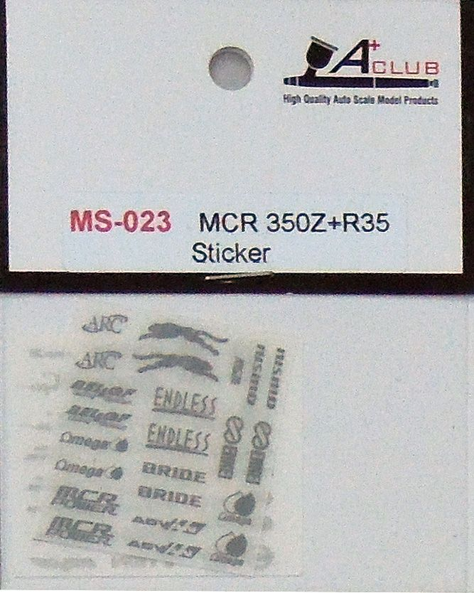 A+Club MS-023 MCR 350Z+R35 Sticker