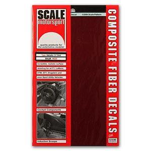 Scale Motorsport 1625 Metallic Red Carbon Fiber