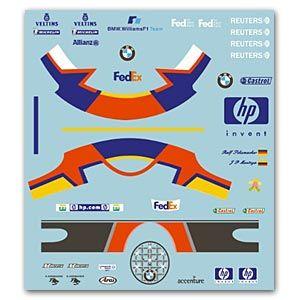 MSM Creation MSMD006 J P Montoya - R.Schumacher Figure Decal 2002