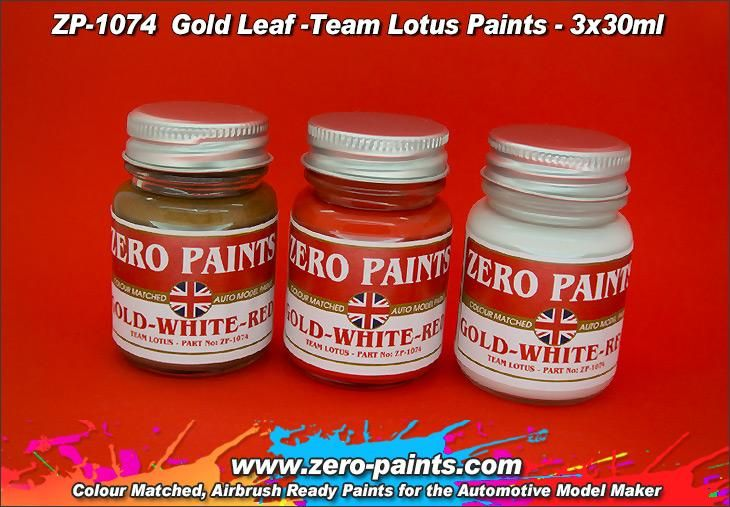 ZERO Paint ZP-1074 Gold Leaf-Team Lotus 72 Paint Set 3x30ml