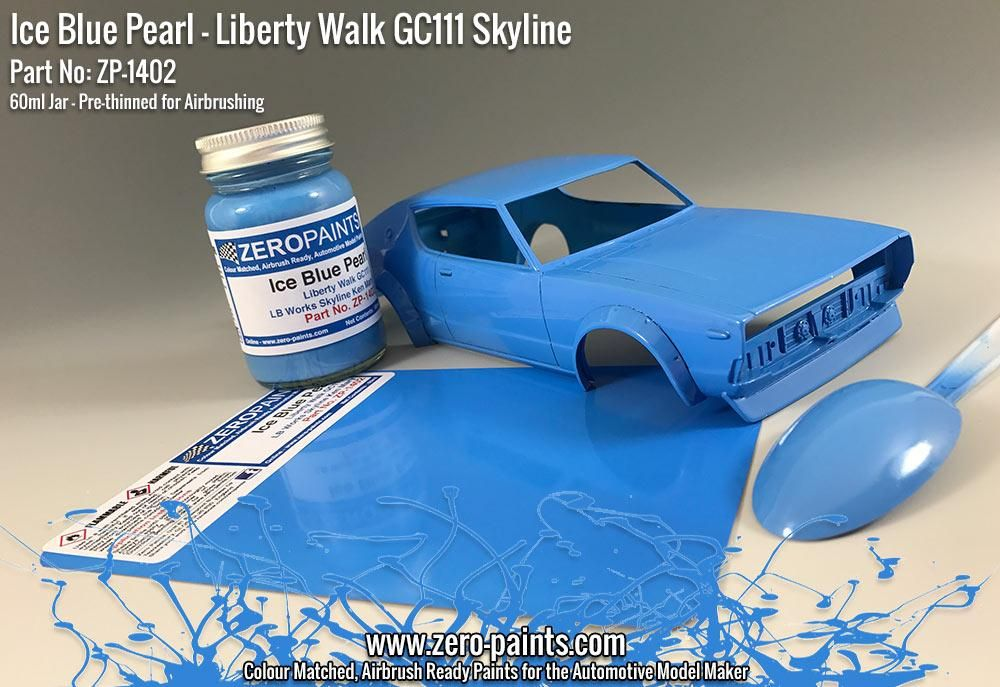ZERO Paint ZP-1402 Ice Blue Pearl Paint for Liberty Walk GC111 Skyline (Ken Mary)