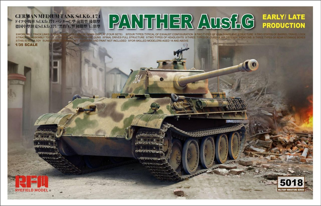 Rye Field Model 5018 Panther Ausf.G Early-Late productions
