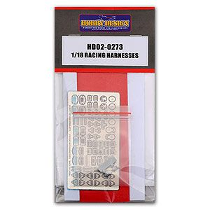 Hobby Design HD02-0273 Racing Harnesses 1/18
