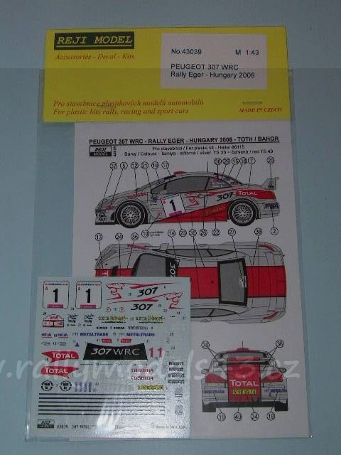 Reji REJI43039 Peugeot 307 WRC - Rally Hungary 2006