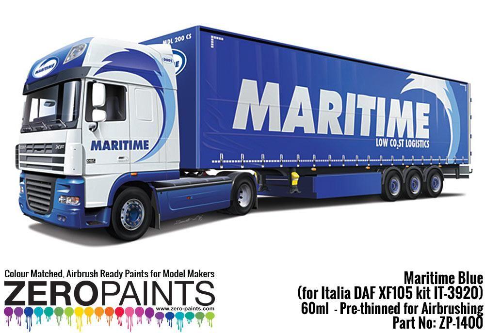 ZERO Paint ZP-1400 Maritime Blue Paint 60ml - (for Italia DAF XF105 kit IT-3920)