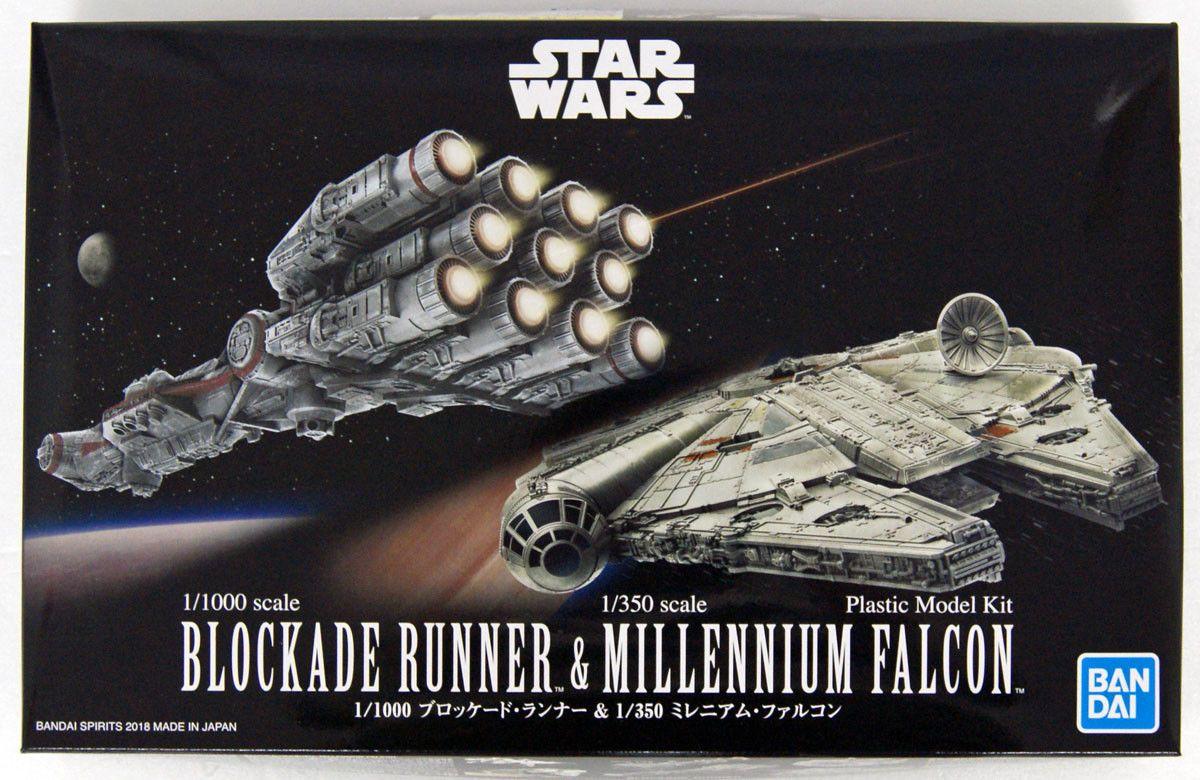 Bandai 0255363 Blockade Runner & Millenium Falcon