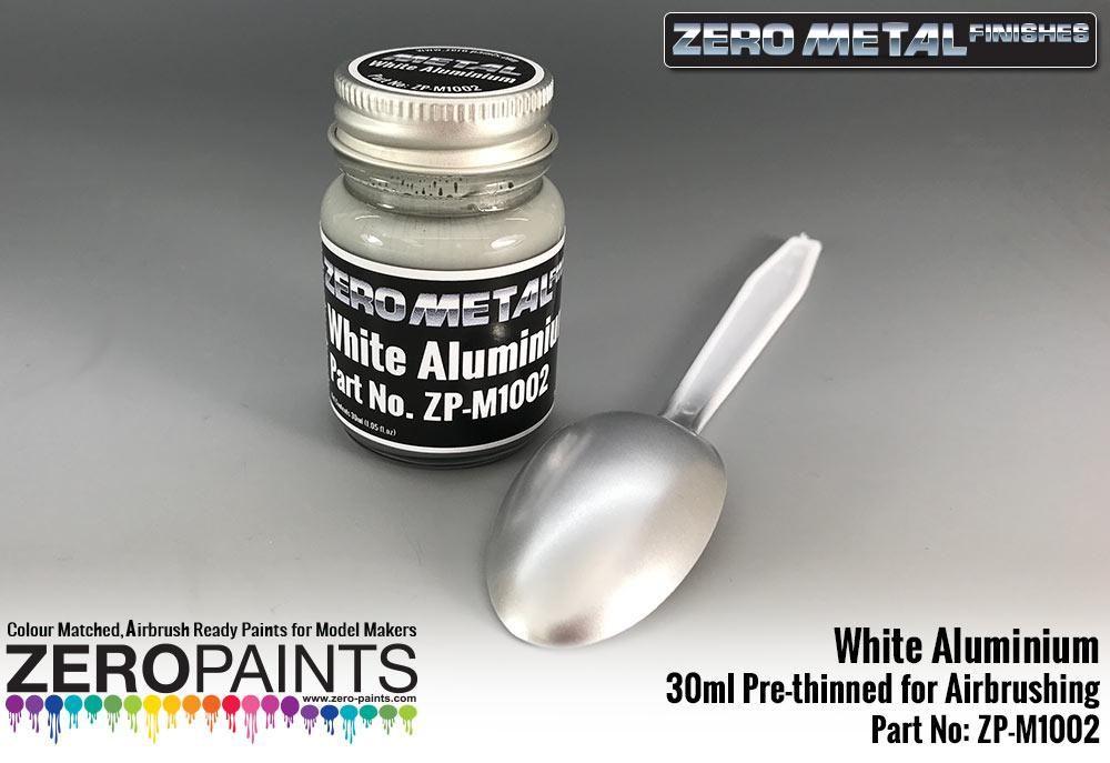 ZERO Paint ZP-M1002 White Aluminium Paint - 30ml