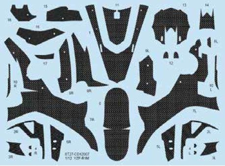 Studio 27 CD12007 YZF-R1M Carbon Decal
