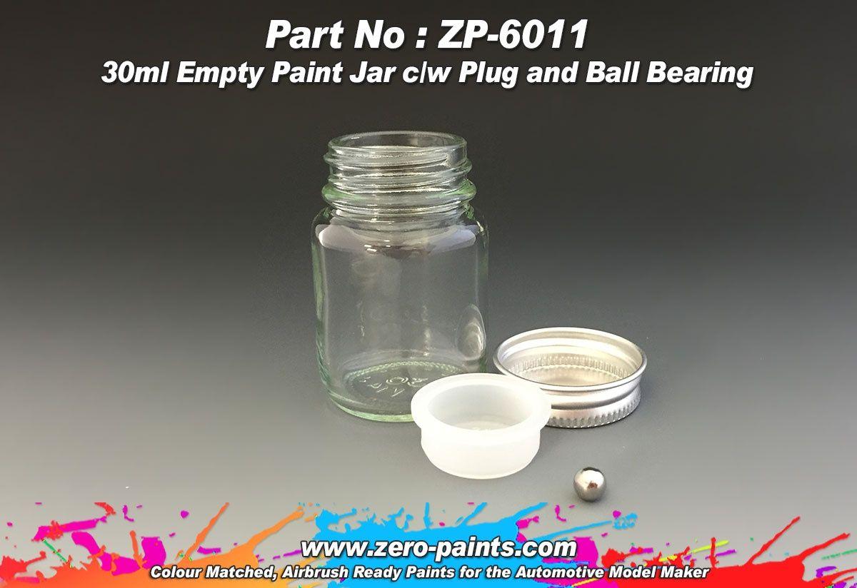 ZERO Paint ZP-6011 6x30ml Glass Jars for Paints