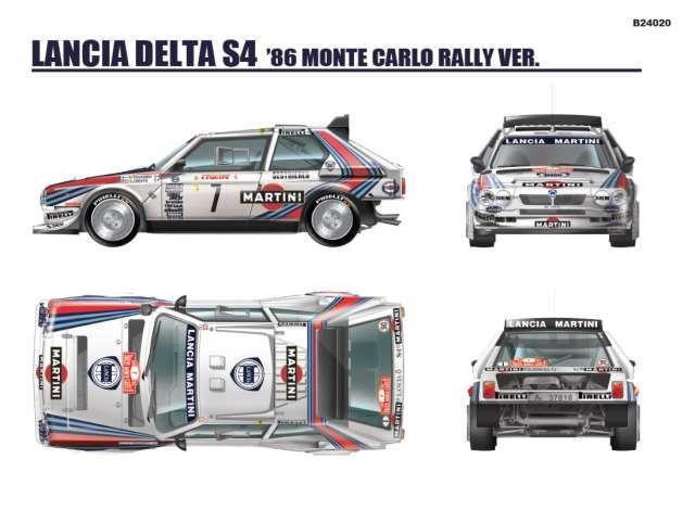 BeeMax B24020 Lancia Delta S4 Monte Carlo Rally 1986