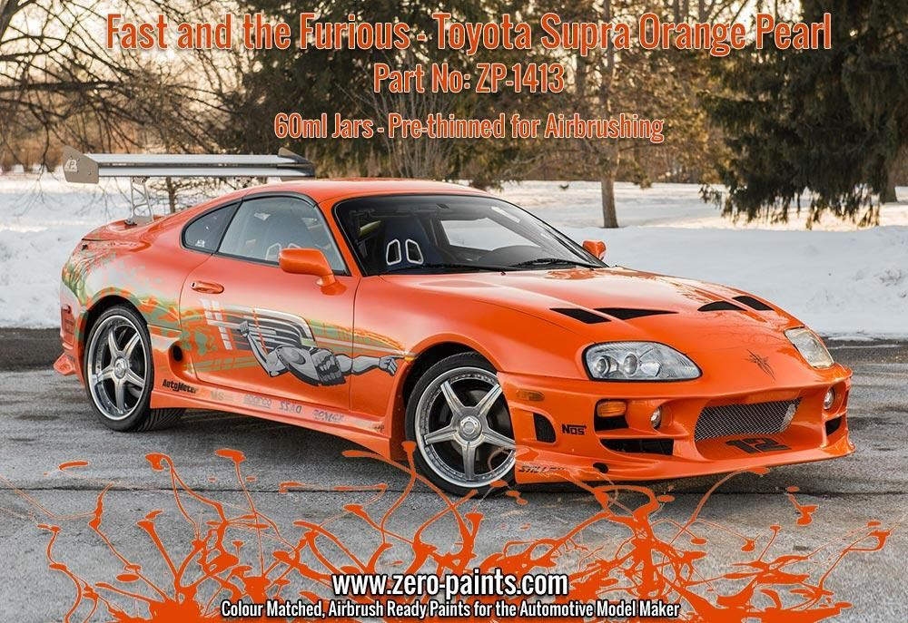 ZERO Paint ZP-1413 Fast and the Furious Toyota Supra Orange Pearl