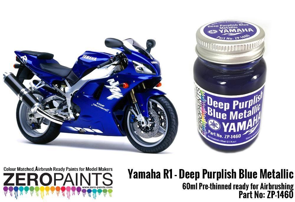 ZERO Paint ZP-1460 Yamaha R1-R6 Deep Purplish Blue Metallic