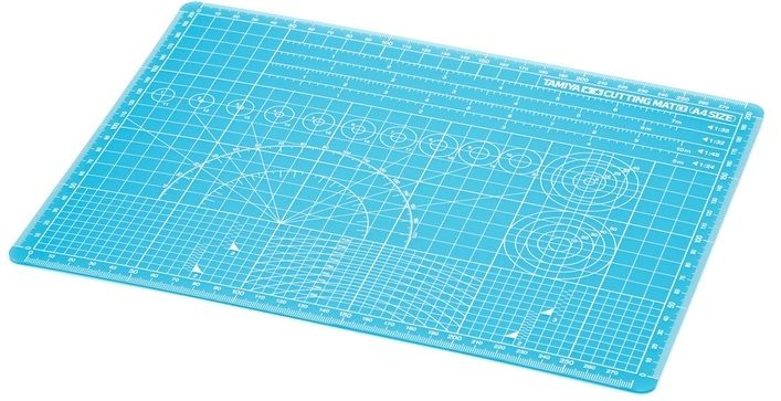 Tamiya 74149 Cutting Mat Alpha (A4 Blue)