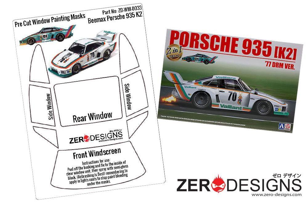 ZERO Design ZD-WM-0033 Porsche Kremer 935 K2 Pre Cut Window Painting Masks (Beemax)