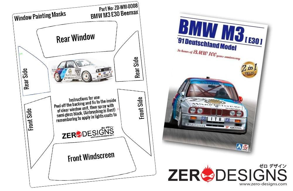 ZERO Design ZD-WM-0008 BMW M3 E30 Window Painting Masks (Beemax)
