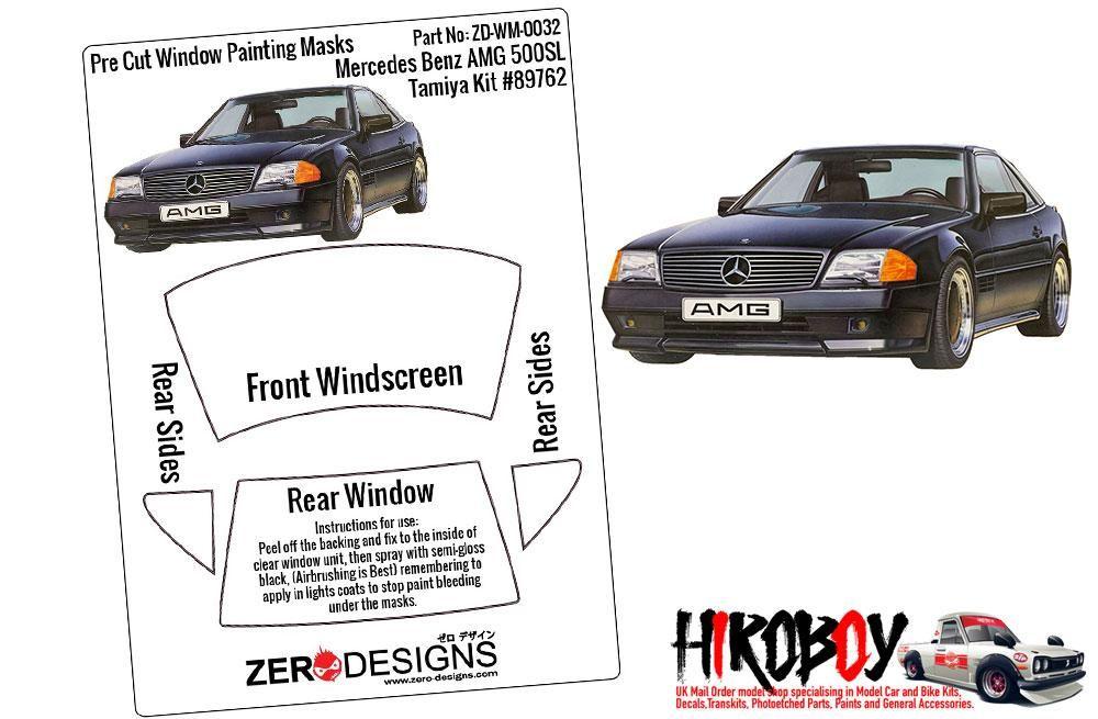 ZERO Design ZD-WM-0032 Mercedes Benz AMG 500SL Pre Cut Window Painting Masks (Tamiya)