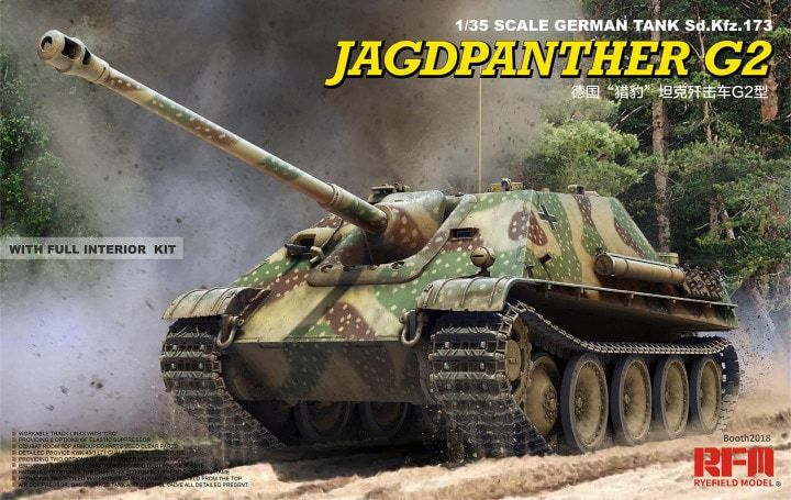 Ryefield Model 5022 Jagdpanther G2 with Full Interior