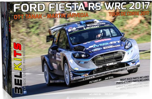 Belkits BEL013 Ford Fiesta RS WRC 2017. Tour de Corse 2017